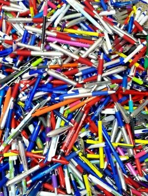 175 Misprint Pen Lot Writing Ink Click Pens Assorted Variety Mixed