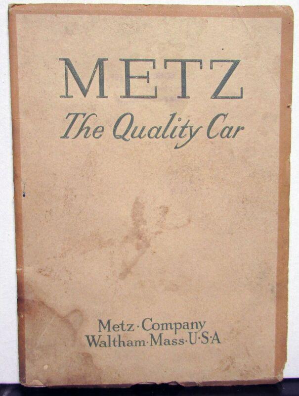 1914 Metz The Quality Car Booklet Pre 1916 Brass Era Original