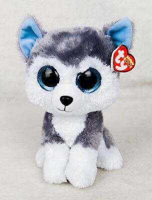 Ty Beanie Boos Slush The Siberian Husky Dog Medium Buddy 9    Nwt