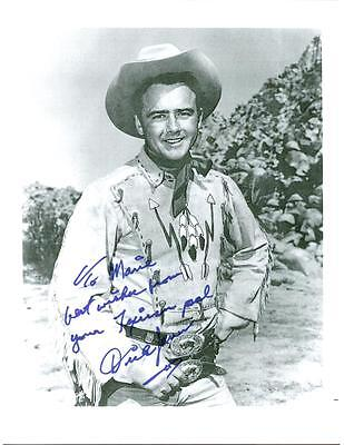 Dickie Jones, Western Actor, Signed 8 1/2