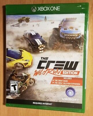 The Crew Wild Run Edition  Microsoft Xbox One  New Sealed   Online Racing Game