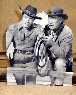 """Wagon Train Western Television Series Tabletop Standee 10"""" Tall"""