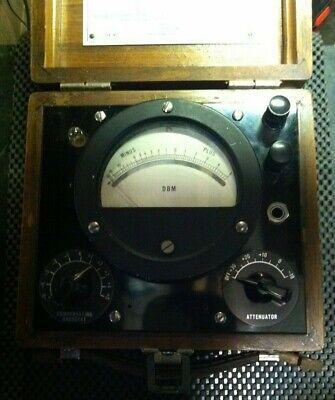 Vintage Decibel Meter In Wood Case Analog Db Meter