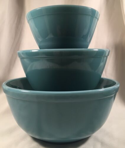 Mixing Nesting Bowls Set of 3 Stackable - Georgia Blue - Mosser USA