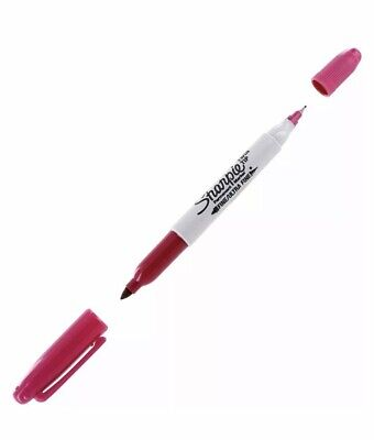 Sharpie Twin Tip Fineultra Fine Point Pens 12 Total Color Berry Shrink Wrap Nib