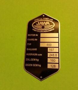 TYPSCHILD JAWA 250, 350 / ( 559)