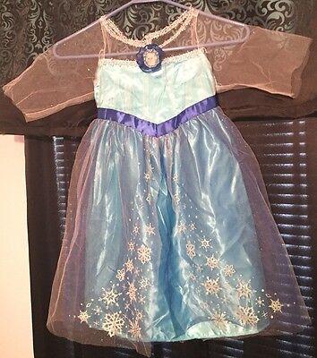 Elsa Halloween Costume Child (Disney Frozen Elsa Princess Halloween Costume Size Child's Small, Good)
