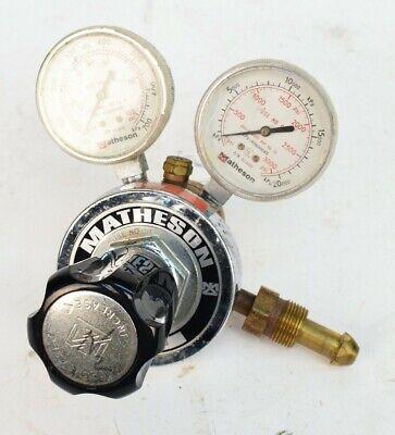 Matheson 8-580 Gas Pressure Regulator 100 3000 Psi Cga-580 Nitrogen