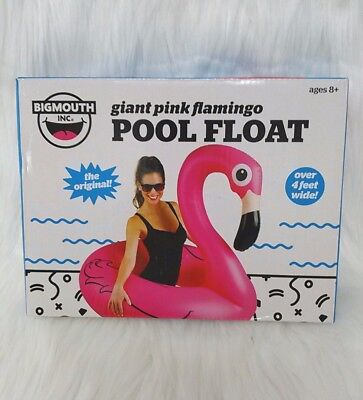 Big Mouth Giant Pink Flamingo Pool Float Inflatable 4Ft Wide  Blow Up Raft  - Big Blow Up Pools