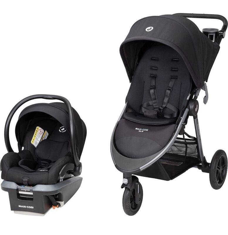 Maxi-Cosi Gia XP 3-Wheel Travel System, Midnight Black