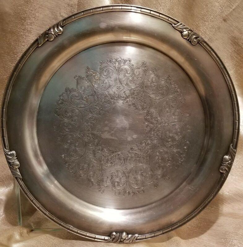 """Empire Crafts Quadruple Plate  Vintage 15"""""""