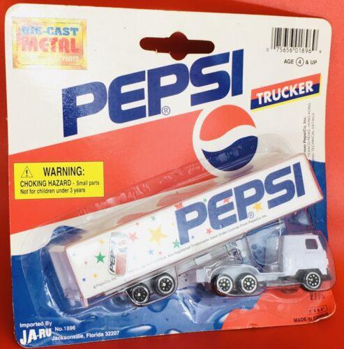 2 Ja-Ru Die Cast Metal Pepsi Trucker, 1 White, 1 Blue...LOT of 2 Free Shipping!