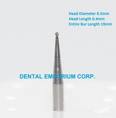 Dental Carbide Burs Fg 14 Round For High Speed Handpiece 10 Per Package
