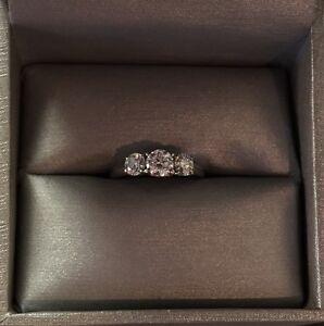14K Canadian 3-stone Diamond Ring