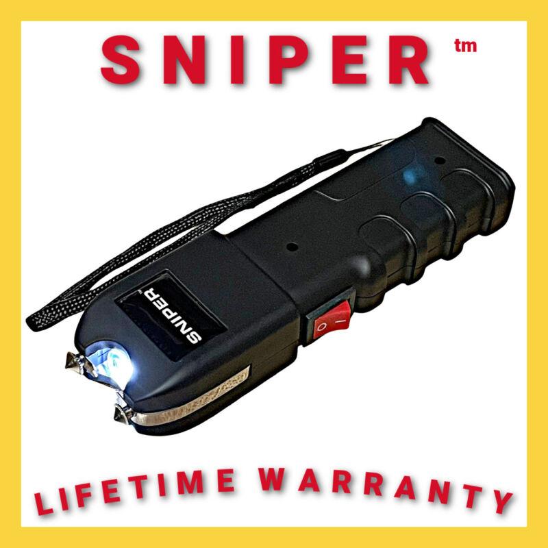 Heavy Duty Stun Gun 675 BV SNIPER Military Grade - Rechargeable LED Flashlight