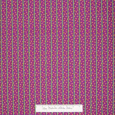 Halloween Fabric - Candy Corn Stripe Purple Free Spirit Westminster Fibers YARD - New Westminster Halloween