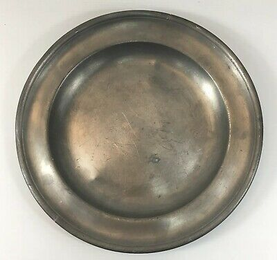 Antique Pewter Plate/Dish Continental With Makers Mark 25cm In Diameter