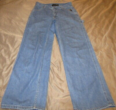 Harley Davidson Women's Size 10 Blue Jeans Painter Pockets Pants 100% Cotton VTG