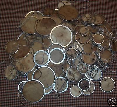 PriMiTive HanG TaGS MeTal RiM RouND CirCLE Grubby  - 3 Different Sizes  STPC - Metal Rimmed Tags