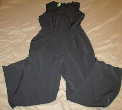 Liz Claiborne Black One Piece Jumper Pant Suit With Jacket Womens Size 10 Outfit