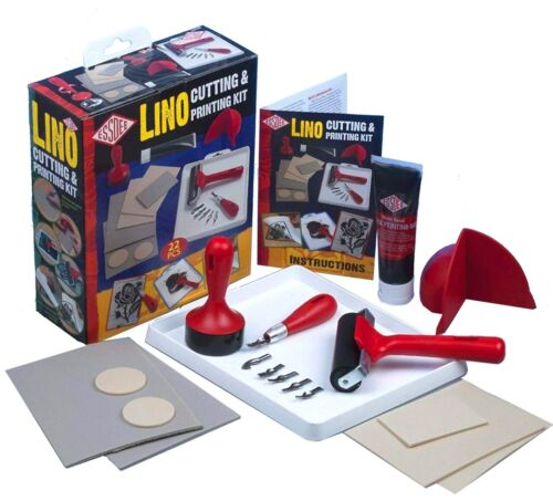 Essdee COMPLETE Lino Cutting & Block Printing Kit - Tiles Cutter Stamp Ink +More