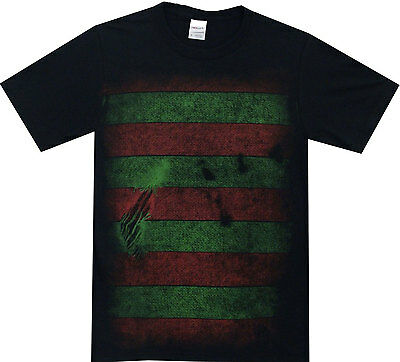 A Nightmare on Elm Street Freddy Kreuger Costume Reversible Mask Adult T-Shirt  (A Nightmare On Elm Street Costume)