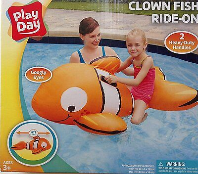 Clown Fish Ride-On Inflatable