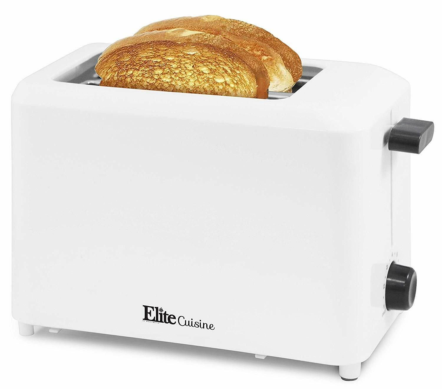Elite Cuisine ECT-1027 Cool Touch Toaster with Extra Wide 1.