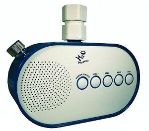 h2o 100 waterproof bathroom shower radio powered by water flow - Bathroom Radio