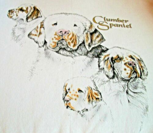 """Clumber Spaniel T-shirt  """" White """" 2XL ( 50 ~ 52 )"""