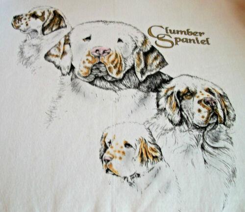 "Clumber Spaniel T-shirt  "" Ash "" MED ( 38 ~ 40 )"