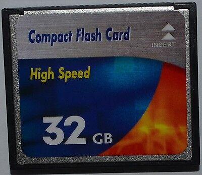 Neu 32 GB Speicherkarte Compact Flash High Speed Karte CF für Digital Kamera  gebraucht kaufen  Goslar