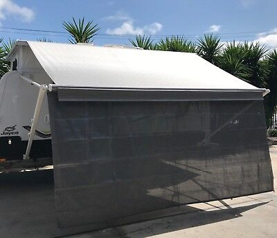 14ft Caravan RV Privacy Screen Wall Side Sun Shade Roll Out Awning Jayco parts