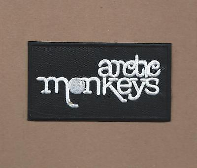 NEW 2 X 3 3/4 INCH ARCTIC MONKEYS IRON ON PATCH FREE SHIPPING