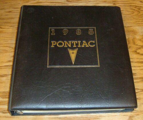 Original 1985 Pontiac Dealer Merchandiser Merchandising Album Planner Firebird