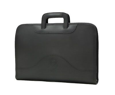 NWT $1195 Ghurka Attache No.24 Leather Portfolio Black GIFT Bag Ipad Case Laptop