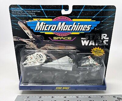 Galoob - Micro Machines Space - Star Wars - Millennium Falcon, Imperial, X-Wing