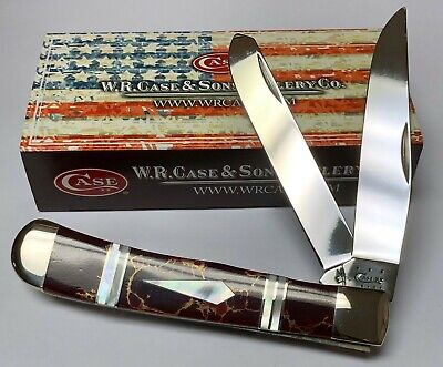 CASE XX KNIFE 2013 EXOTIC RED & GOLD JASPER TRAPPER (EX 254 SS) #11101 1/500