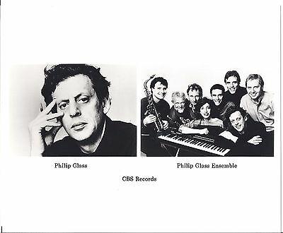 Philip Glass press kit, 1986, RARE! COOL 8x10 GLOSSY photo! FOLDER, Liquid Days