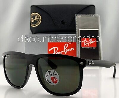 Ray-Ban RB4147 Sunglasses 601/58 Shiny Black Classic Green POLARIZED Lens (Ray Ban Rb4147 60)