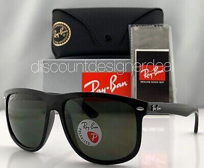 Ray-Ban RB4147 Sunglasses 601/58 Shiny Black Classic Green POLARIZED Lens 60mm