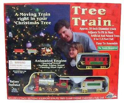 CHRISTMAS TRAIN SET - IN THE TREE with HEADLIGHT & SOUND Indoor Animated Décor