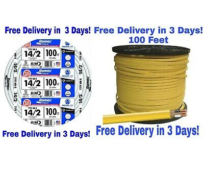 122 142 Wground Romex Indoor Electrical Wire 100 Feet Each