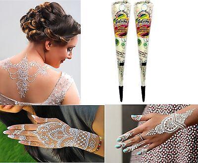 2x Golecha Henna Paste Kegel Weiß 50g  Klinisch getestet Mehndi Tattoo Indien
