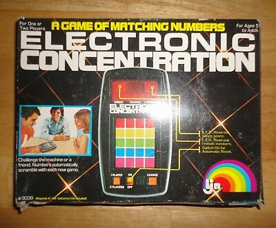 Vintage 1979 LJN ELECTRONIC CONCENTRATION Handheld Game w/ Original Box