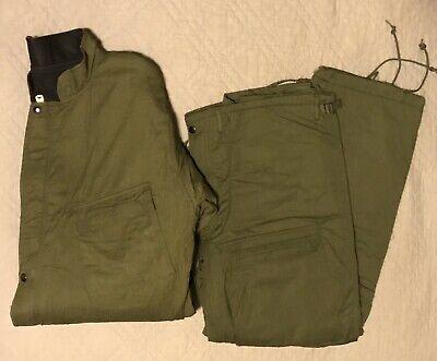 Vintage Us Army Chemical Protective Suit Jacket Coat Pants Green 1981 Large L