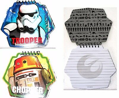 Star Wars Rebels Die-Cut Notebook Note Writing Pad Stocking Filler Party Favour