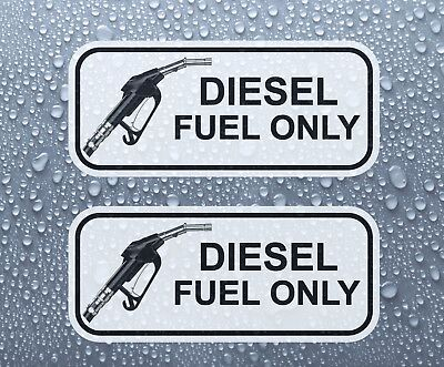DIESEL FUEL ONLY - Set of 2 printed colour self-adhesive stickers - PRNT1002