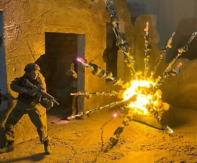 Action Figure Environment Effect,Grenade Explosion Diorama, Combat Display