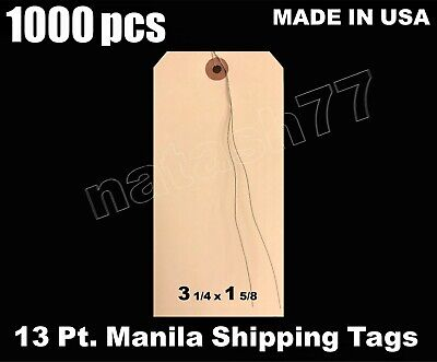 1000 - 3 14 X 1 58 Manila 13 Pt. Wire Inventory Shipping Hang Price Tags 2